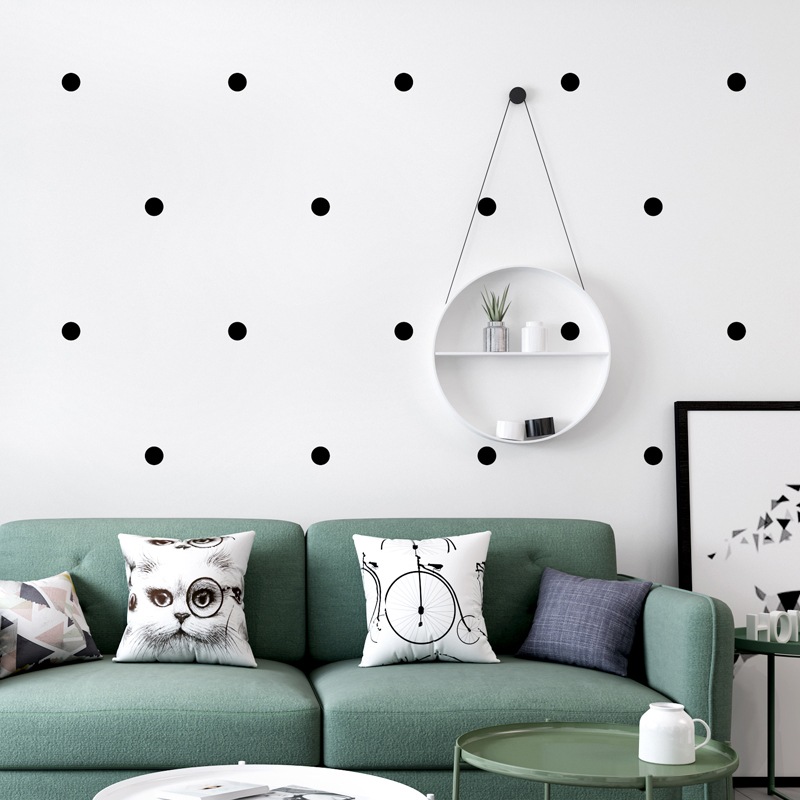 Nordic Style Wallpaper INS Modern Simple Geometry Black And White Polka Dot Wall Paper Living Room Bedroom TV Background Decor