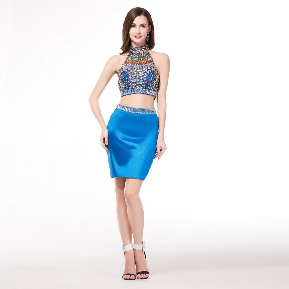 Blue Tight Homecoming Dresses Short 2015