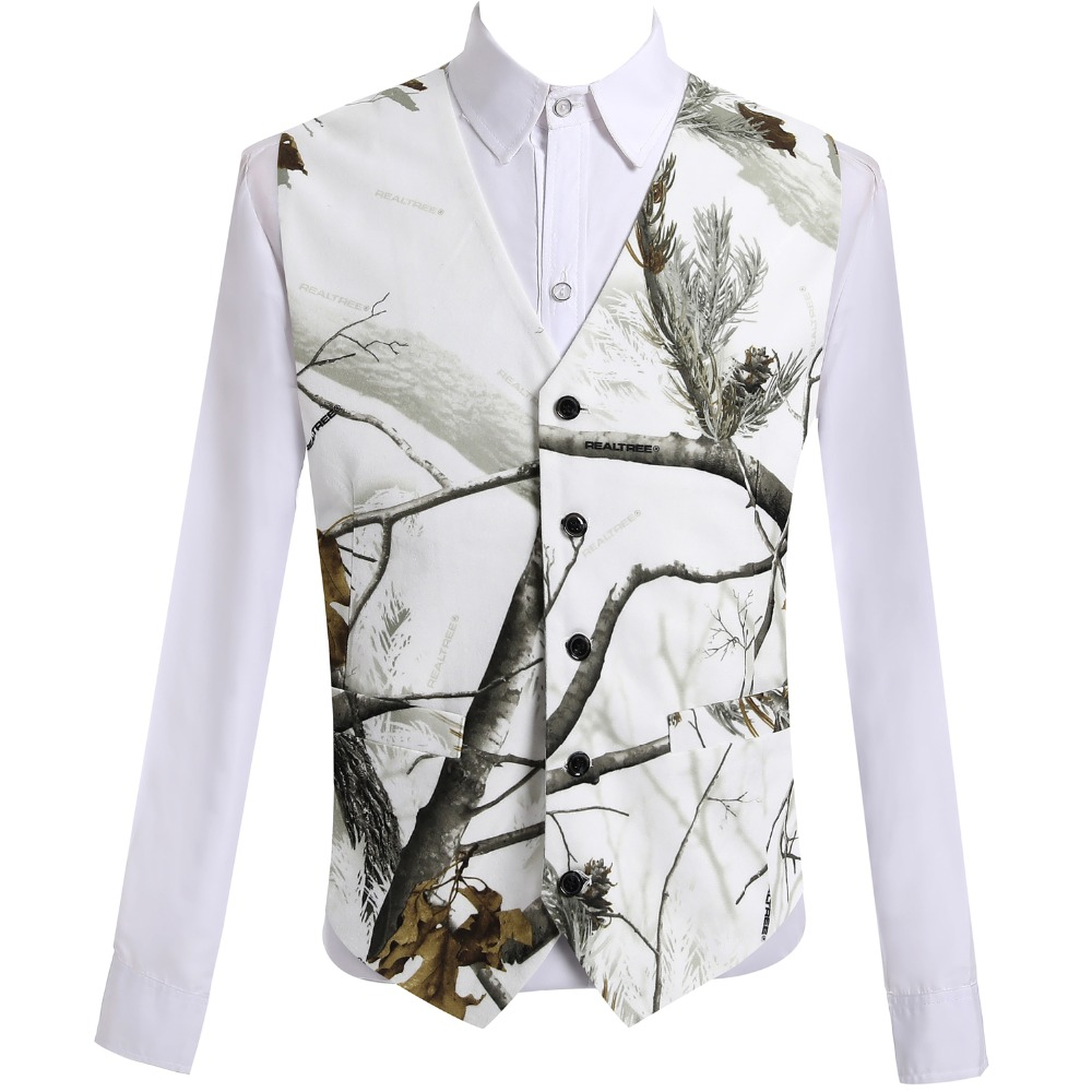 Hcf By Air 2018 White Camo Vests For Men Custom Made Size For Wedding Slim Fit Men Vest New Arrival An Enriches And Nutrient For The Liver And Kidney