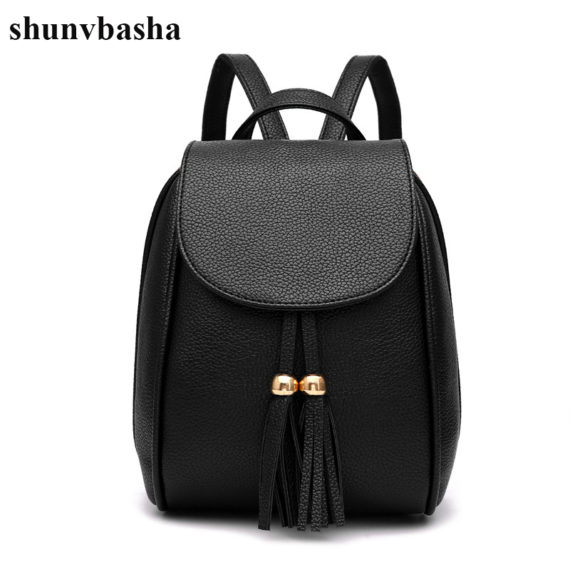 New Arrival Leather School Bags For Teenage Girls Top handle font b Backpacks b font Korean