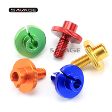 For YAMAHA FZ6 N/S FZ6R XJ6 FZ8 FZ-1N FAZER  Blue/Red/Green Motorcycle CNC Billet Clutch Cable Wire Adjuster M10x1.5 цена 2017