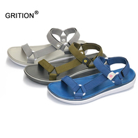 GRITION Fashion Women Sandals Outdoor Summer Lightweight Beach Flat Shoes Casual Walking Shoes Comfortable Women Slippers