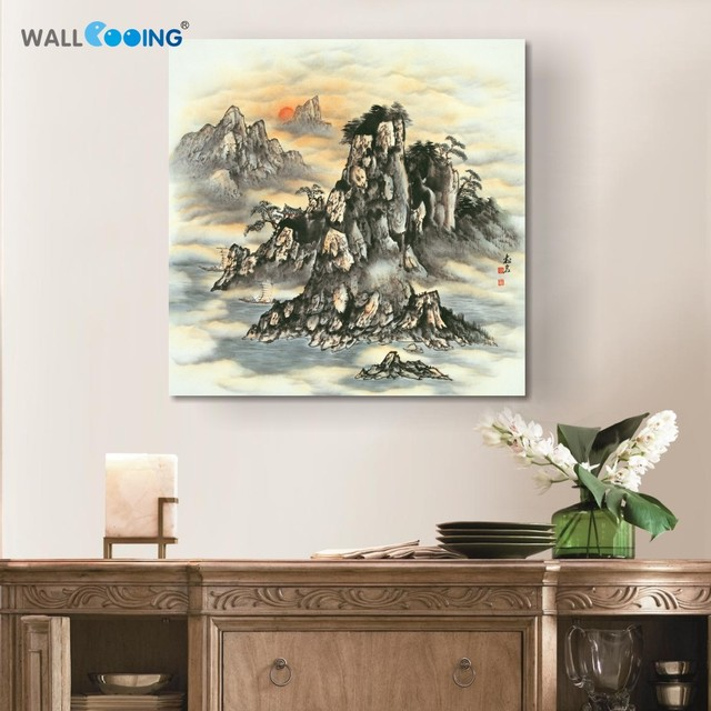 Colorful Zen Famous Landscape Paintings Wall Art For Dining Room Canvas  Painting Poster Frames Print Cuadros