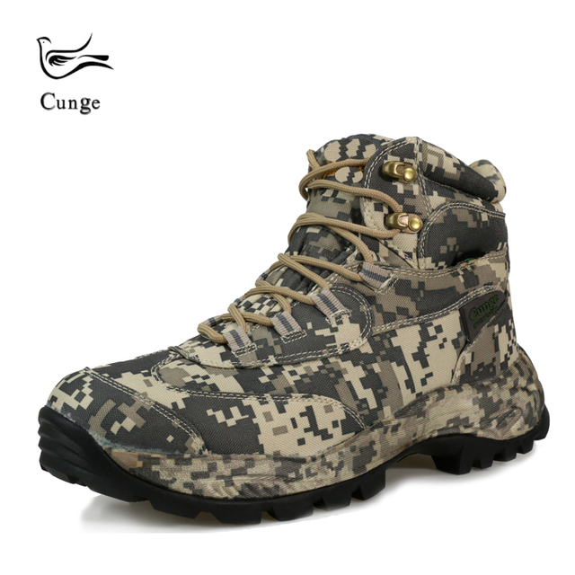 a40a03b9ca8 US $35.76 42% OFF|Men Outdoor Waterproof Hiking Shoes Boots Military  Tactical Desert Combat Ankle Boots Army Boots Camouflage Shoes-in Hiking  Shoes ...