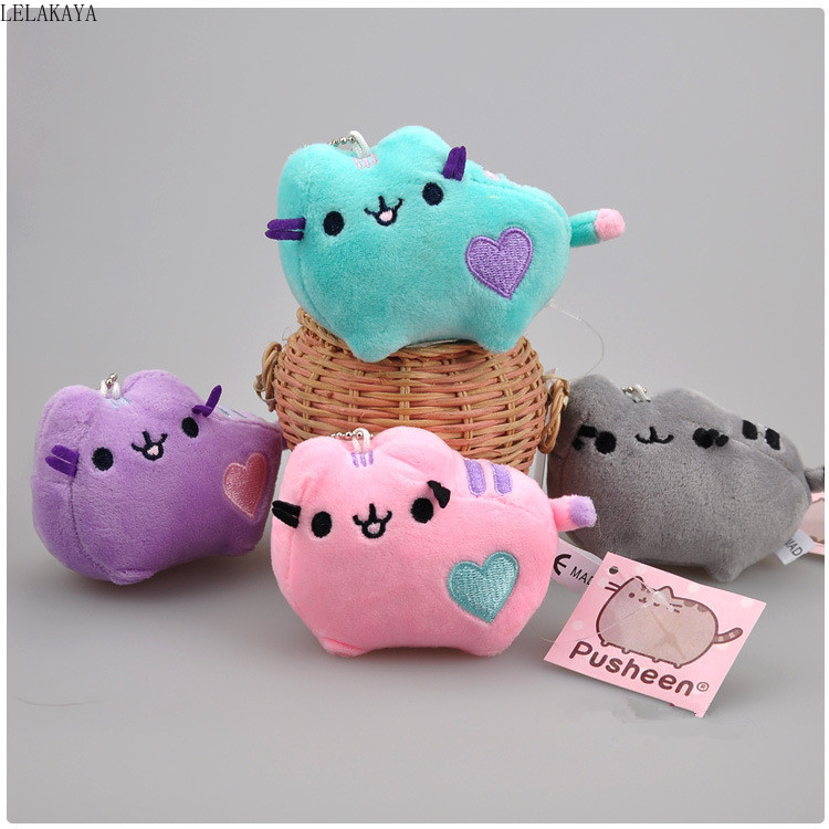 10cm Plush Keychain Cartoon Soft Stuffed Creative Bag Xmas Pendants Gift Animals Cute Kawaii Cat Lovely Mini Couple Pendant Doll