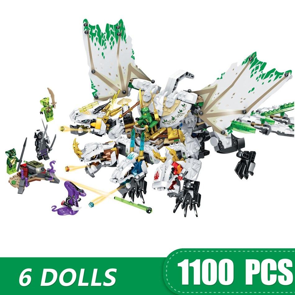 1100 шт. маленькие строительные блоки игрушки, совместимые с Legoe Ninja ультра дракон подарок для девочек мальчиков детей DIY-in Блоки from Игрушки и хобби