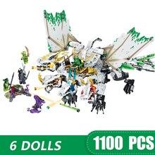 1100 pçs pequenos blocos de construção brinquedos compatíveis lepinging ninja o ultra dragão presente para meninas meninos crianças diy