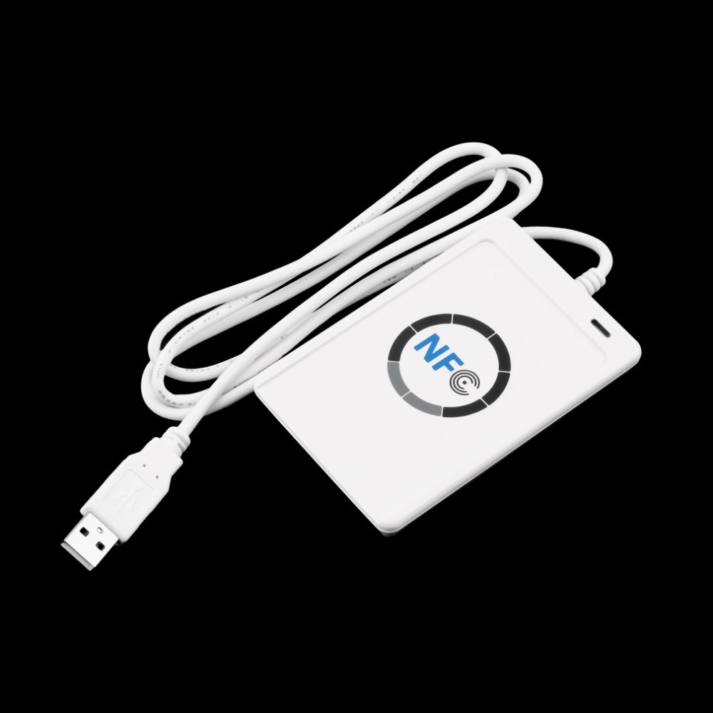 USB Full Speed NFC ACR122U RFID Contactless Smart Card Reader Writer with 5pcs M1 Cards For 4 types of NFC (ISO/IEC18092) tags contactless 14443a ic card reader with usb interface 5pcs cards 5pcs key fob 13 56mhz rfid black color
