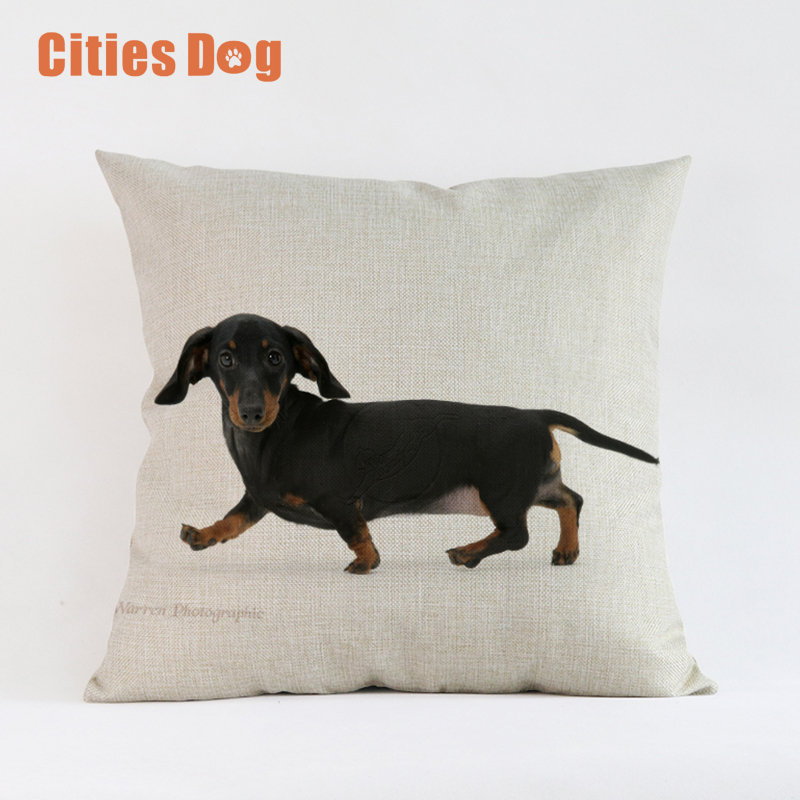 Animal dog Cushion Cover Dachshund Dogs Throw Pillow Cove Decorative Pillows Cushions Covers for Sofa Car Decor Almofada Cojines