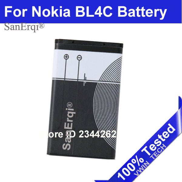 SanErqi <font><b>BL</b></font>-<font><b>4C</b></font> <font><b>BL</b></font> <font><b>4C</b></font> Battery BL4C Batteries For <font><b>Nokia</b></font> 6300 6136 6102i 6170 6260 Free Shipping image
