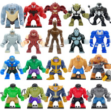 Hot 7cm Figure Super Hero Building Blocks Dogshank Abomination Riot Bane Gorilla Grodd Mark 38 Igor Kids Sinestro Action Toys(China)