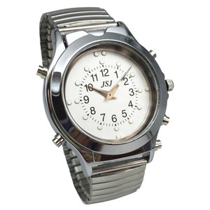 Image 2 - Spanish Talking and Tactile Watch for Blind People or Visually Impaired People, White Dial, Black Number