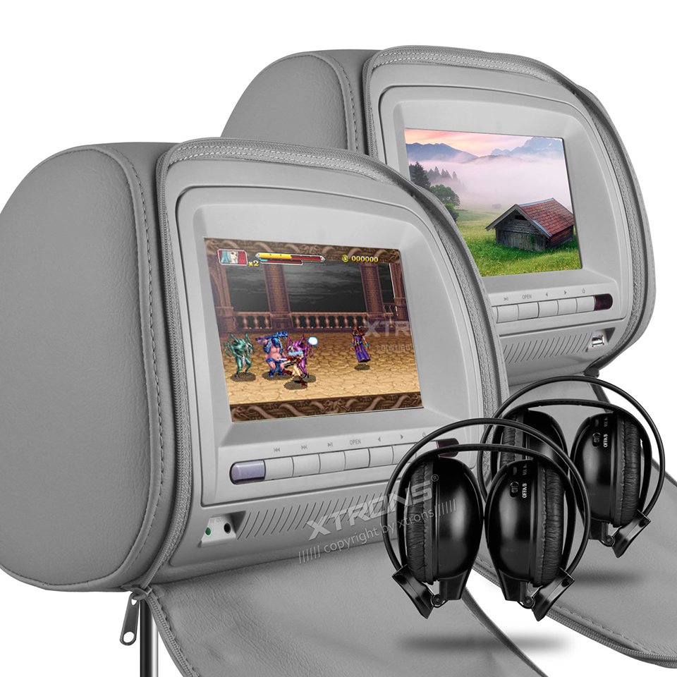 """Audio Pillow Speaker Usb Beamer Picture  More Detailed Picture About 2X7"""" Headrest Car ."""