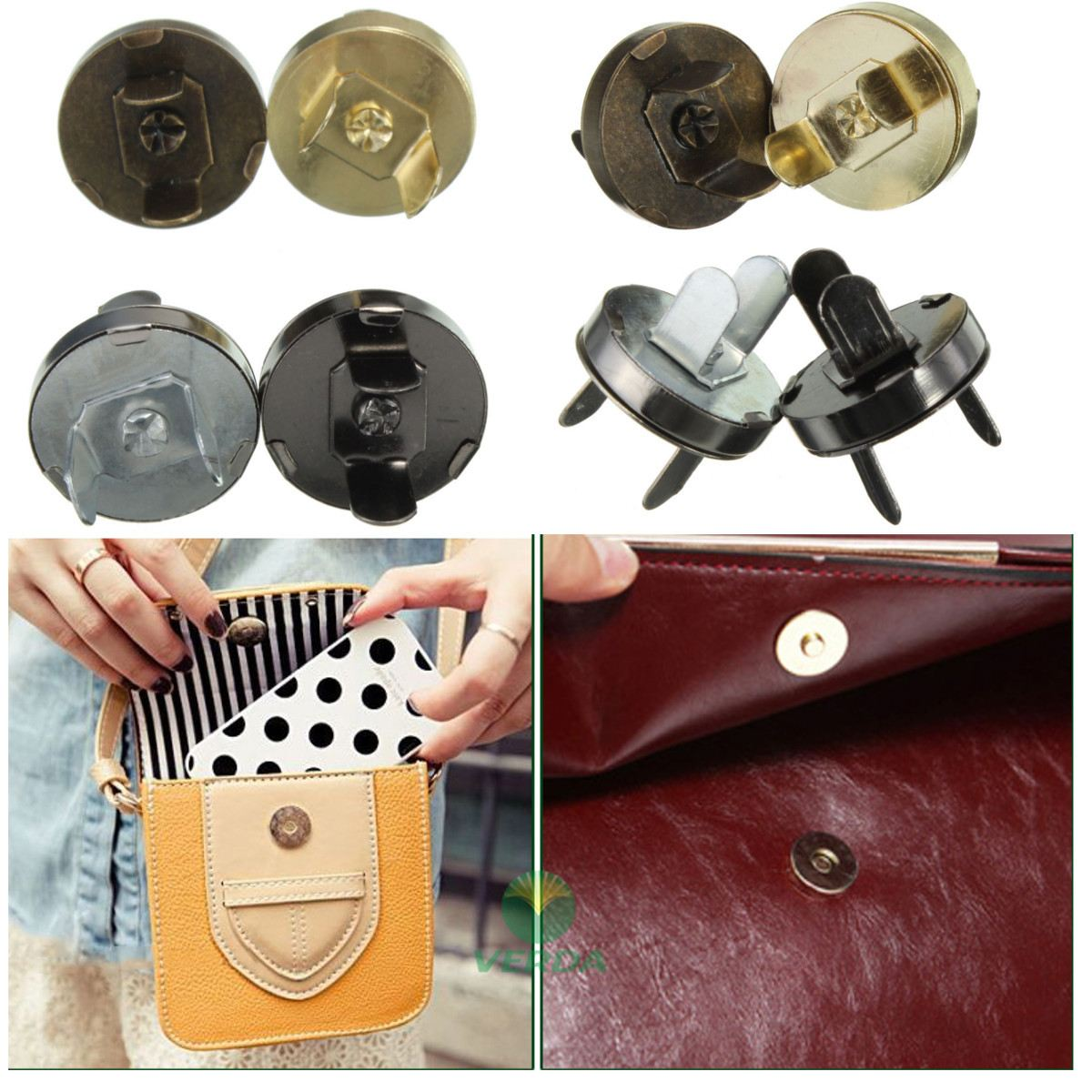 5pc/lot 18MM Magnetic Snap Fasteners Clasps Snap Buttons Purse Wallet Bags Parts Accessories Handbag DIY Replacement Accessories hабор д пива