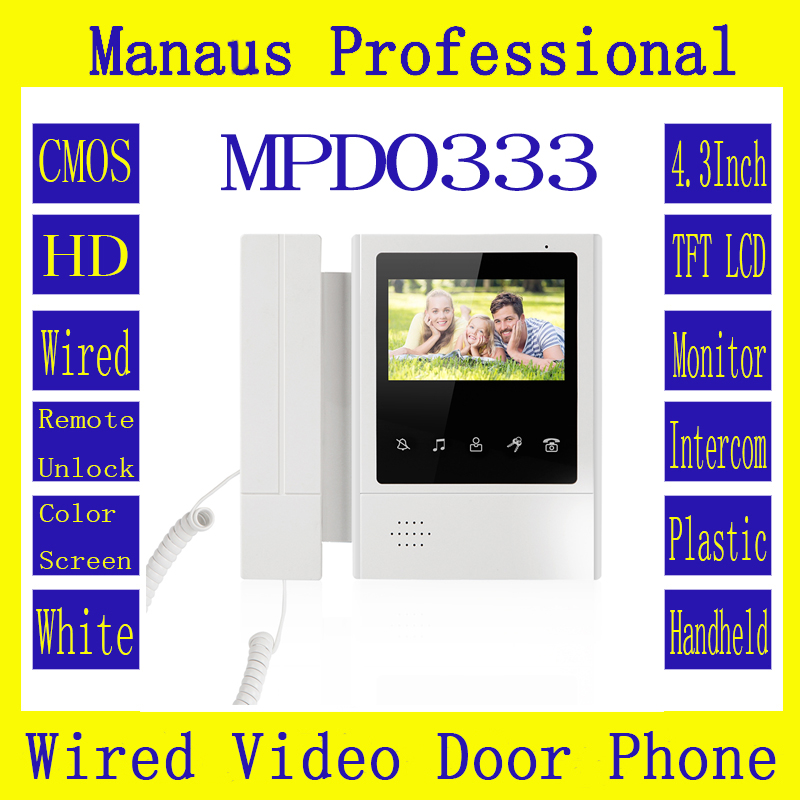 4.3 inch Digital Color TFT LCD Wired Video Doorbell High Quality Indoor Monitor ABS Plastic Shell Telephone Xinsilu Newest D0333