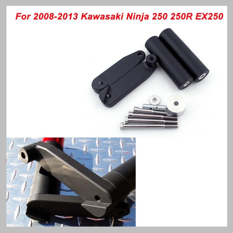 No Cut Frame Slider Pad For 2008-2013 Kawasaki Ninja 250 250R EX250 2009 2010 2011 2012 Crash Falling Protection Motorcycle Part