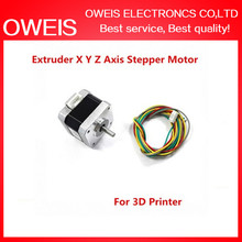 Extruder X Y Z Axis Stepper Motor with Cable For 3D Printer MODULE Free shipping