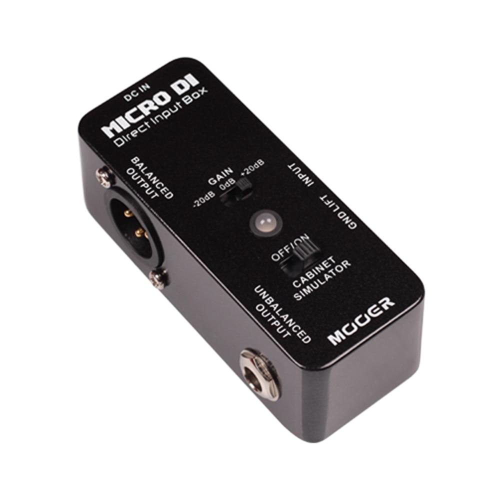 Mooer MICRO DI Guitar Effect Pedal Micro Mini MICRO DI Cabinet Simulator Effect Pedal With LED Light MDT1 mini micro розовый mm0002 micro