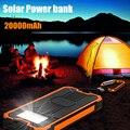 20000 mah novo banco de potência carregador solar portátil à prova d' água sol externo mais rápido carregador de bateria para celular iphone samsung