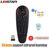 L8star g30 controle remoto 2.4g voz sem fio rato de ar 33 teclas ir aprendizagem giroscópio sensing remoto inteligente para o jogo android caixa tv