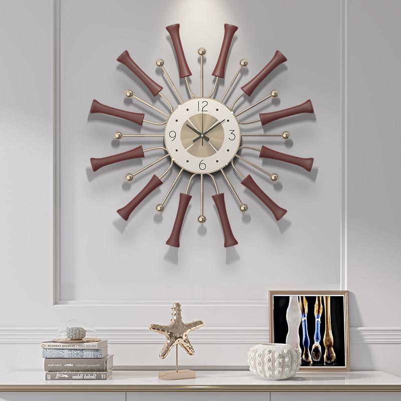 Nordic Creative Pop Years Wall Clock Modern Design Mute Clock Living Room Home Decoration Quartz Clock Round Clock On The Wall