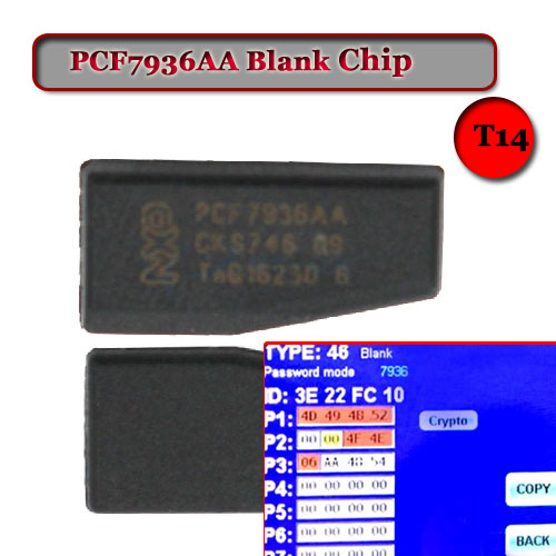 Free shipping Blank PCF7936AA Transponder Chip For Nissan Honda Hyudai.Citroen Opel (10pcs/lot) free shipping transponder key blank hu43 blade for tpx chip for opel 10piece lot