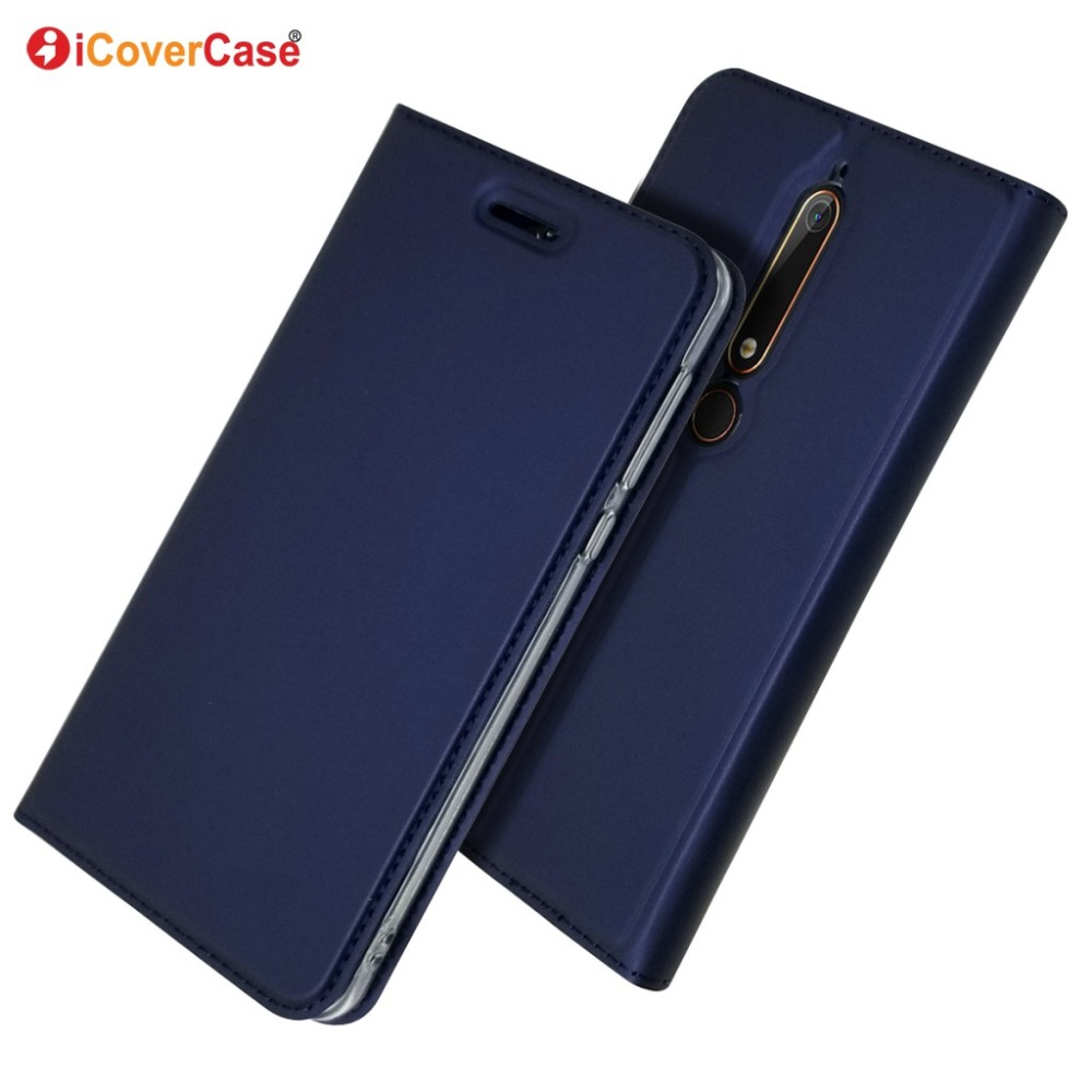 Magnetic PU Leather Flip Wallet Stand Cover For Nokia 1 2 2.1 3.1 5 5.1 6 6.1 Plus 7 Plus 7.1 8 8.1 2.2 3.2 4.2 Protective Case