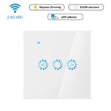Умный светильник для ЕС, Великобритании, Wi-Fi, переключатель управления, сенсорный переключатель, голосовое приложение, управление, 3 способа, настенный занавес, переключатель для Alexa Google Home