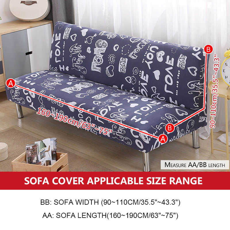Enjoyable Printed Armless Sofa Bed Cover Stretch Couch Covers Funda Sofa Cheap Couch Protector Elastic Futon Cover Spandex Cubre Sofa Download Free Architecture Designs Scobabritishbridgeorg