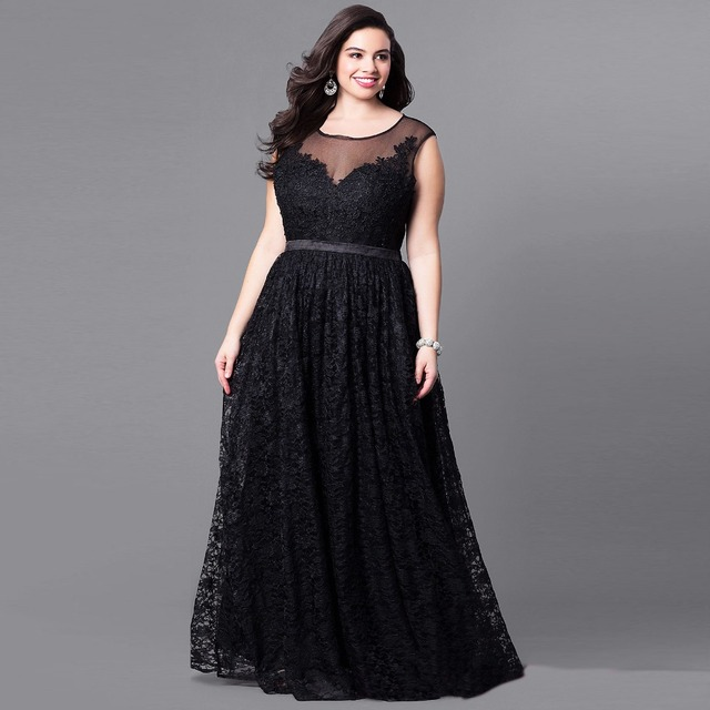 127ff894eb2 2018 5XL 6XL Plus Big Size Dress High quality Lace Evening Party Dress Tall  waist character Net yarn Solid color Sexy Vestido