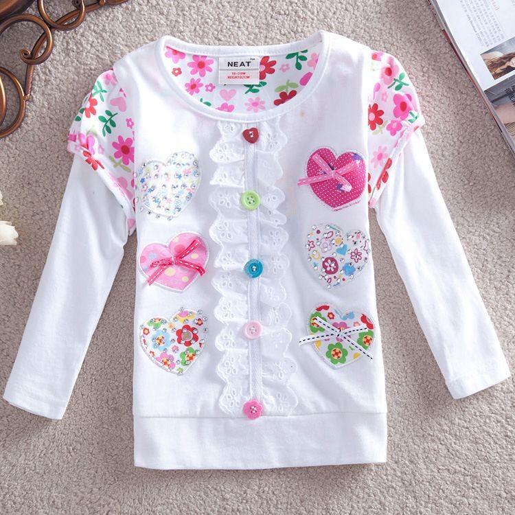 HTB13lYrHFXXXXbaXVXXq6xXFXXXI - Girls Long Sleeve All Year T-Shirt, Long Sleeve, Cotton, Various Designs and Prints