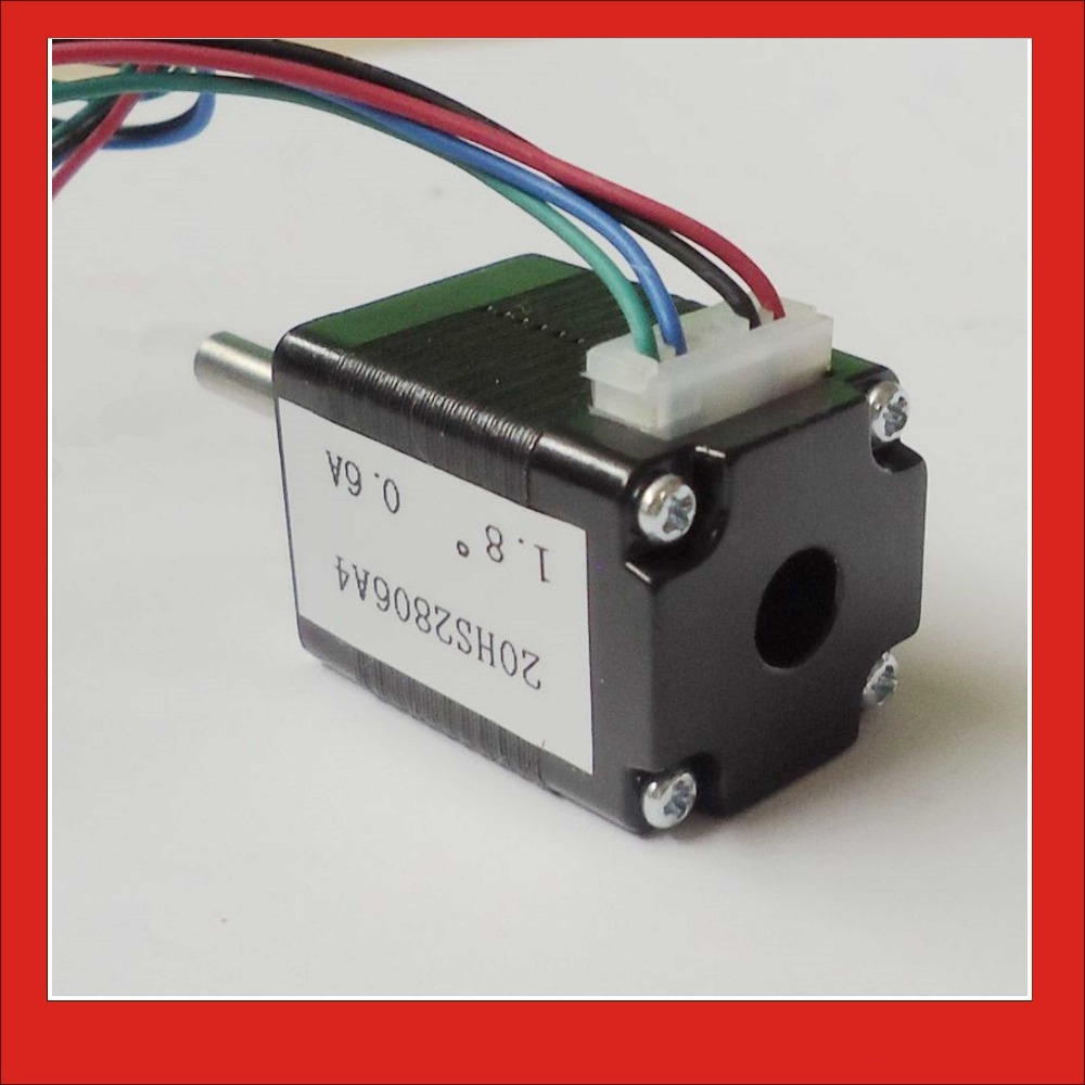 1.8 degree 4-lead NEMA 8 Stepper Motor with 1.4N.cm Holding Torque Body Length 28mm CE ROHS CNC Stepping Motor 0 9 step degree nema14 round stepper motor with 8 8n cm 12oz in length 20mm ce cnc step motor