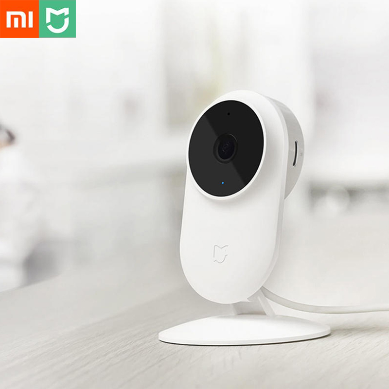 Xiaomi Mijia 1080P FHD Smart IP Camera WiFi 130 Degree FOV Partition AI Detection 10m Infrared Night Vision APP Remote Controll 2018 original xiaomi mijia smart ip camera 1080p 2 4g wifi wireless 130 wide angle 10m night vision hierarchical detection