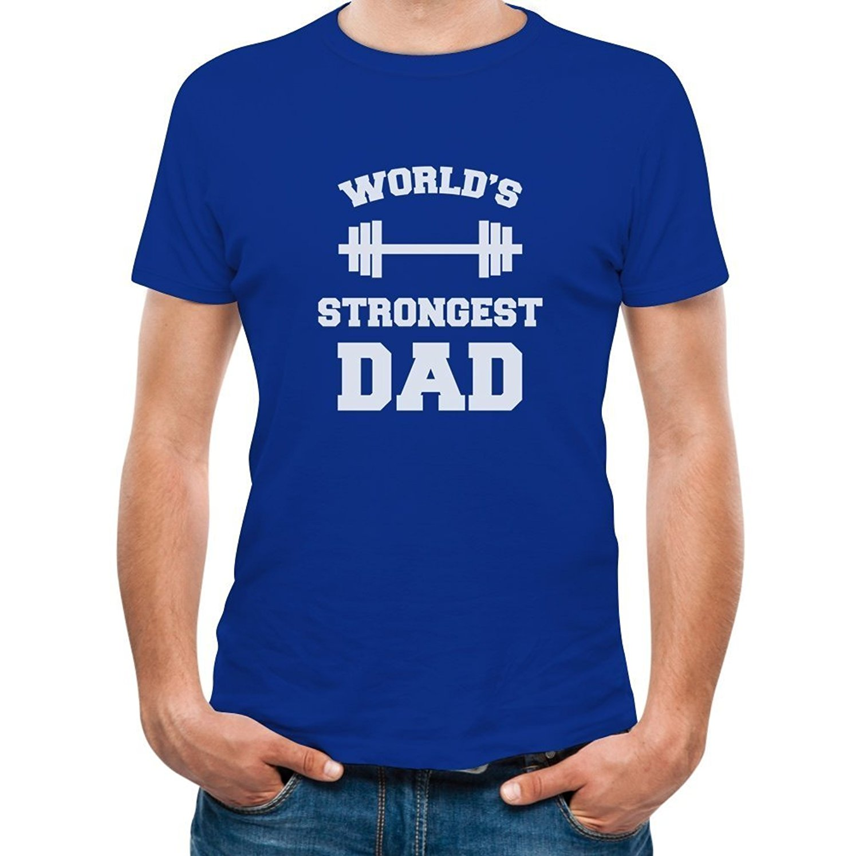 camiseta impresa camisa de diseo ms fuerte del mundo idea de regalo para el da del padre pap fresco padres camiseta crculo
