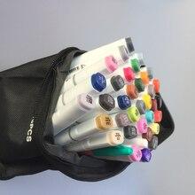 Лучшие Бесплатная доставка маркером двуглавый жирной ручка студентов ручная роспись 60 72 80 Цвета постоянный Manga Книги по искусству Бумага рисовать