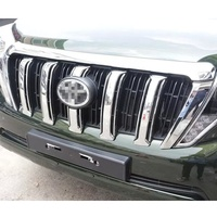 ABS Chrome Front Grill Cover Car Sticker Suitable For Toyota Prado 2700 2014 2016 Car Styling