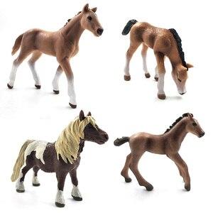 Image 4 - محاكاة نماذج للحيوانات الخيول عمل أرقام الأطفال ديكور المنزل الجنية حديقة اكسسوارات الديكور تمثال هدية للأطفال لعبة