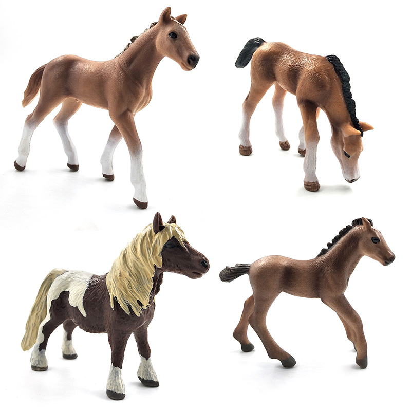 Image 4 - Simulation animal model horses Action Figures children home decor fairy garden decoration accessories figurine Gift For Kids toy-in Action & Toy Figures from Toys & Hobbies