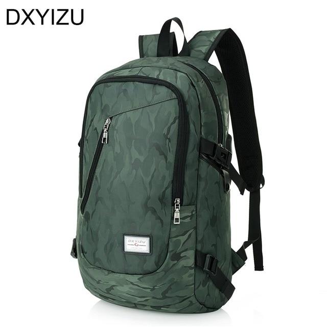 men's cool back bag men large laptop backpack 17 inch unisex ...