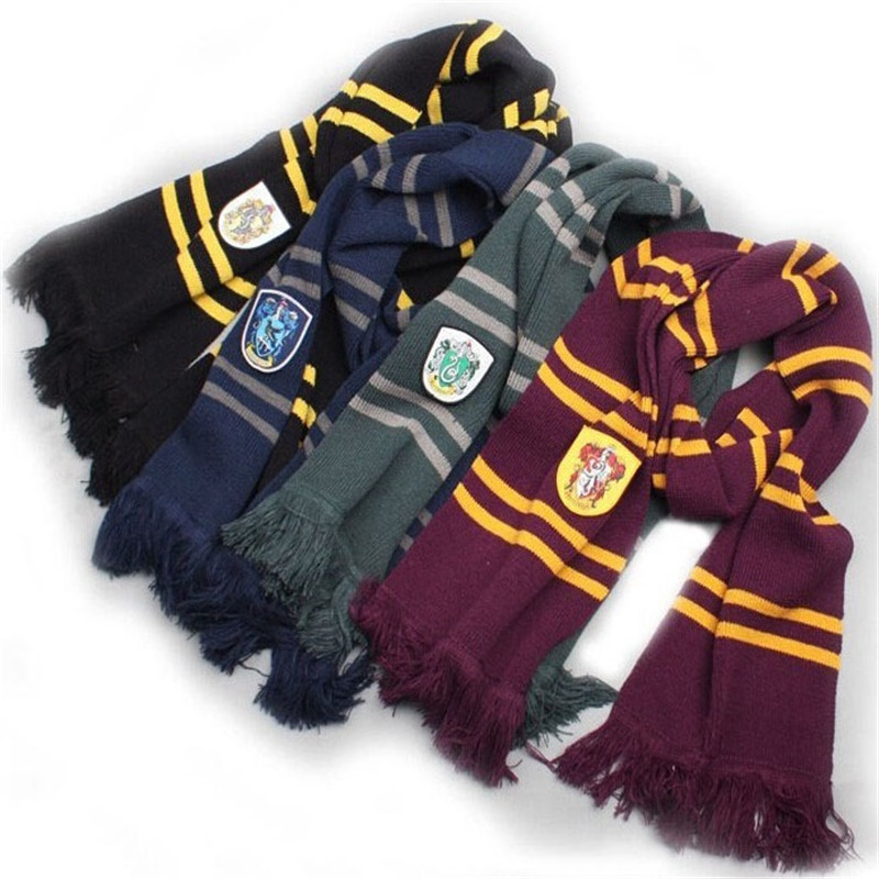 Harry-Potter-Scarf-Scarves-Slytherin-Hufflepuff-Ravenclaw-Cosplay-Costume-Magic-School-Slytherin-Scarf