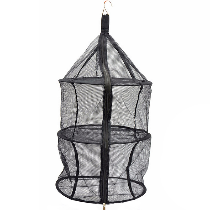 Portable Camping Dry Net Folding 3 Layer Hanging Mesh Foods Dish Outdoor Beach Picnic Bag Rack Shelf Storage Basket Tableware|Outdoor Tools| |  - title=