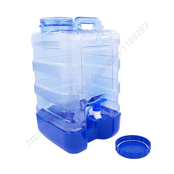 new 5 gallon plastic water bottle reusable wide cap jug container with valve