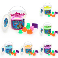 500g Magic Barrelled Space Sand Children Play Sand Toy Non Toxic Plasticine Modeling Colored Clay Send