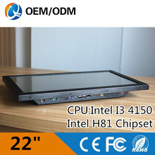 Desktop computer 22 Inch rs232 resistive touchscreen Resolution 1680X1050 industrial pc with 2GB DDR3 500GHDD Intel I3 4150(China (Mainland))