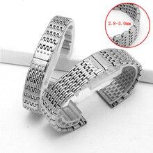 ساعة اكسسوارات السيدات حزام الفولاذ المقاوم للصدأ ل لونجين حزام الفولاذ المقاوم للصدأ الرجال الرياضة مقاوم للماء حزام الفضة 13 مللي متر 18 مللي متر