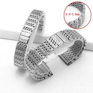 Image 1 - Watch accessories ladies stainless steel strap For Longines stainless steel strap mens sports waterproof silver strap 13mm 18mm