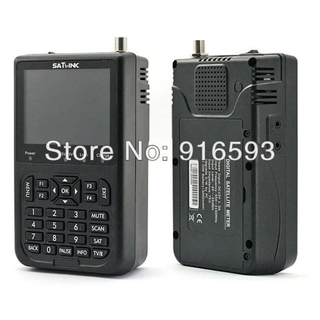 SATLINK WS-6906 DVB-S FTA Digital Satellite Signal Meter Satellite Finder Supports DiSEqC 1.0/1.2, QPSK anewkodi original satlink ws 6906 3 5 dvb s fta digital satellite meter satellite finder ws 6906 satlink ws6906