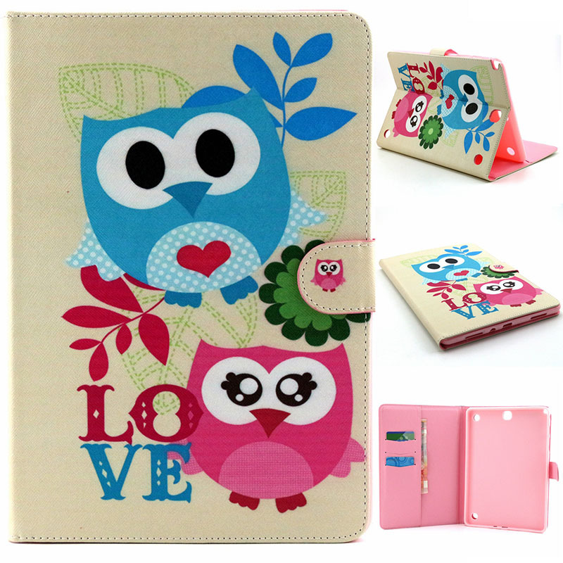 New Cartoon For Samsung Tab A 9.7 T550 Case Flip PU Bracket Stand Funda Cover For Samsung Galaxy Tab A 9.7 T550 T555 Tablet Case