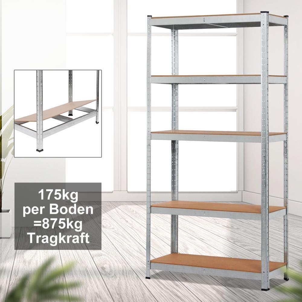 Étagères de chargement d'atelier 5 couches Durable étagère de stockage de salle de bains à la maison étagère galvanisée résistante support de stockage de Garage détachable