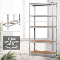 Workshop Loading Shelves 5 Layers Durable Home Bathroom Storage Shelf Heavy Duty Galvanized Shelf Detachable Garage storage rack